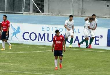 Castillo celebrando su segundo gol. Foto: APG Noticias