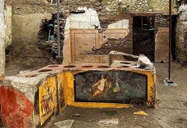 Imagen del Temopolio encontrado en Pompeya