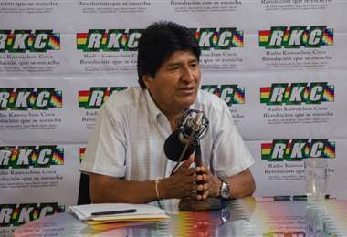 Morales llamó a sus bases a que prime la razón