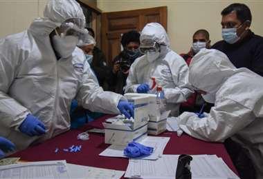 Las pruebas realizadas en La Paz I AMN.