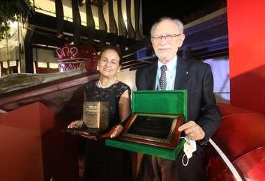 Con la distinción a Paula Peña y Peter Lewy se inauguró la FIL./Foto: Jorge Gutiérrez