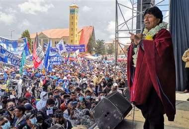 El expresidente en El Alto I Twitter.