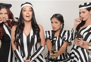 Patricia Ovando, Camila Soruco, Melissa Deryuver y Romy Paz