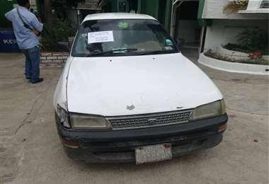 Este es el vehículo que arrastró al joven y en el que se movilizaban los ladrones