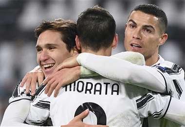 La eufórica celebración de la Juventus. Foto: AFP