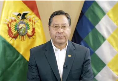 Luis Arce durante su intervención I EL DEBER.