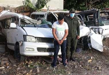 Raúl Omar Llusco Correa, detenido por la Policía