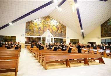 Un video se filmó en la iglesia La Santa Cruz