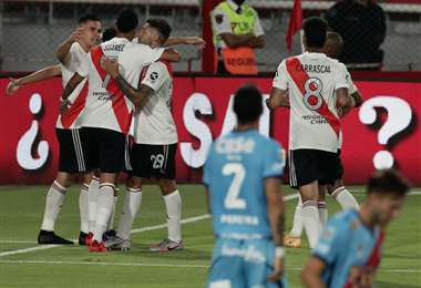 River Plate enfrentará a Boca el sábado en la Bombonera. Foto: AFP