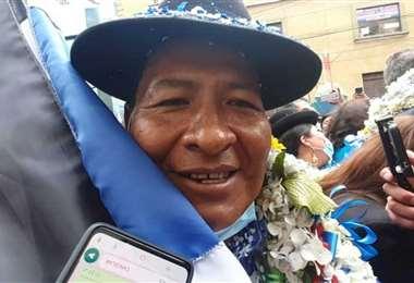 El candidato del MAS en El Alto I internet.