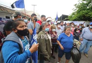 Masistas protestan fuera de las instalaciones del TED/Foto: Juan Carlos Torrejón