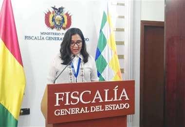 Directora de relaciones internacionales de la Fiscalía General del Estado, Grisel Arancibi