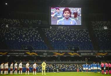 El estadio San Paolo ahora se llamará Diego Maradona. Foto: AFP