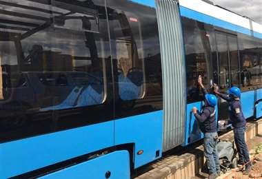 La construcción del Tren Metropolitano continúa en Cochabamba.