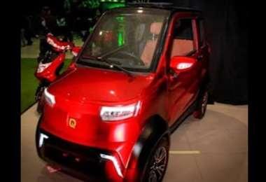 Los vehículos eléctricos son de la marca Quamtum de fabricación boliviana