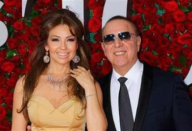 Thalía y Tommy Mottola cumplieron dos décadas de casados