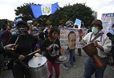 Persisten las protestas en Guatemala, pidiendo la renuncia de Giammattei /AFP