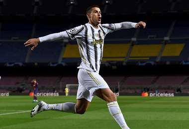 Cristiano Ronaldo, en plena celebración. Foto: AFP