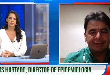 Hurtado alertó a la población en la entrevista con EL DEBER TV