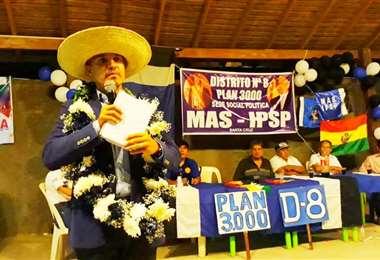 Pedro García, precandidato a Gobernador por el MAS