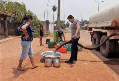 San Matías se provee de agua de cisternas.
