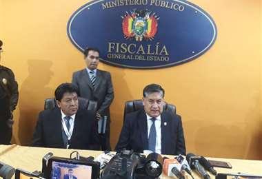 Lanchipa habló al respecto en el acto de posesión de los nuevos fiscales de Chuquisaca y La Paz. Foto: Bolivia TV