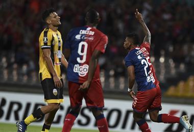 El 4-0 de la ida fue clave para que el equipo de Medellín avance a la tercera fase de la copa. Foto. AFP
