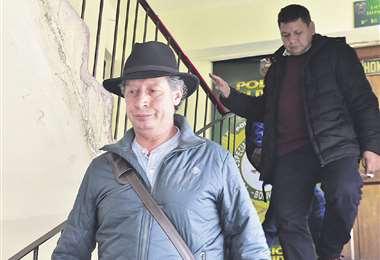 César Navarro, exministro de Minería, y el exviceministro Pedro Dorado fueron retenidos ilegalmente. Foto: APG