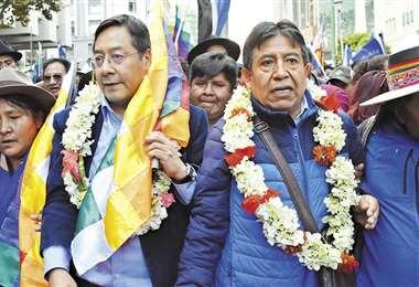 El 3 de febrero el MAS inscribió al binomio conformado por Luis Arce Catacora y David Choquehuanca | APG Noticias