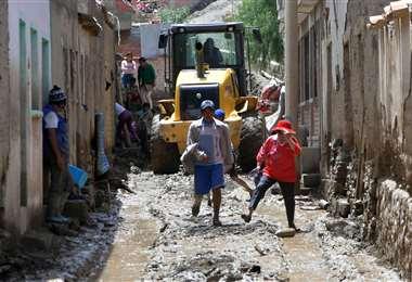 En Cotagaita se dio una riada que causó daños en varias casas