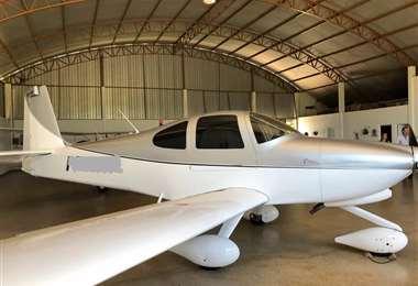 Avión confiscado en Barreiras este jueves en el operativo realizado por la Policía Federal de Santa Catarina | Foto: Policía Federal