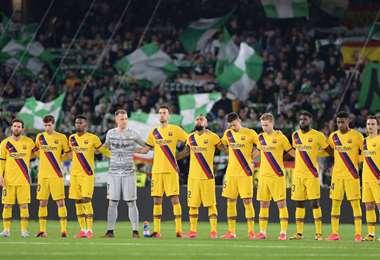El equipo catalán ofrecerá este sábado un mensaje de solidaridad con China. Foto: Internet