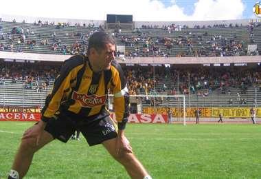 Sandro Coelho fue capitán del Tigre en su etapa de jugador. Hizo 80 goles en el cuadro aurinegro. Foto: Internet