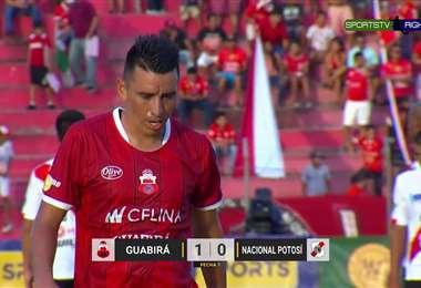 Ajustado triunfo de Guabirá ante Nacional Potosí. Marcó Galaín en los descuentos