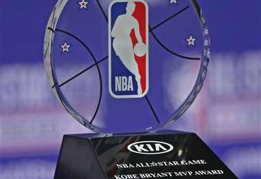 Este el trofeo que se entregará este domingo al MVP del juego de las estrellas. Foto: AFP