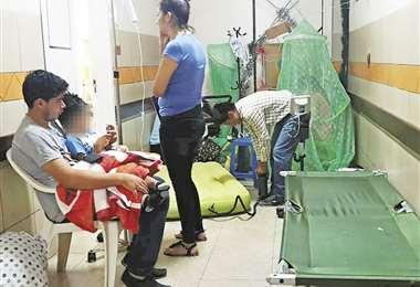 En fin de semana hay una sola pediatra para 30 internados y 10 en Emergencias del Francés. Foto: Gina Justiniano
