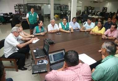 Reunión del COED (Foto: Gina Justiniano)