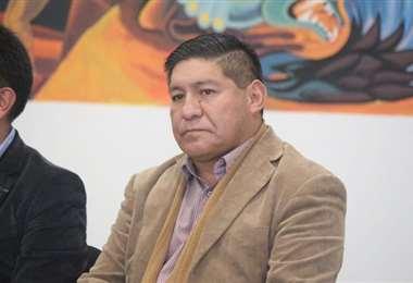 Vacaflor juró en el cargo este lunes por la tarde. Foto. Ministerio de la Presidencia
