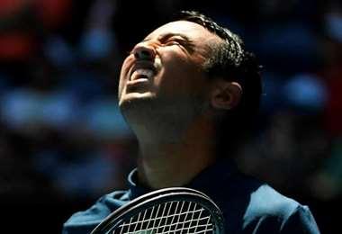 La desazón de Hugo Dellien tras la derrota. El Tigre perdió ayer en el ATP de Rio de Janeiro. Foto: Prensa Hugo Dellien