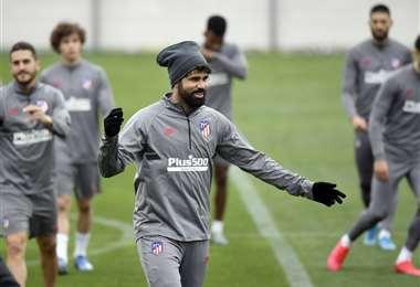El 'Lagarto' Costa es una opción en la ofensiva del Atlético. Foto: AFP