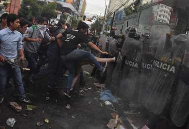 Imagen de archivo de las manifestaciones en La Paz tras las elecciones del 20 de octubre   Foto: APG