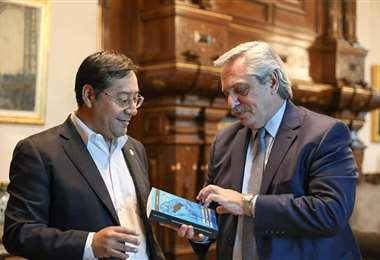 Luis Arce y el presidente de Argentina, Alberto Fernandez