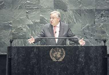 Antonio Guterres, secretario general de la ONU   AFP