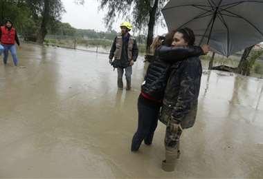 Tiquipaya nuevamente sufrió por las inundaciones. Foto: APG