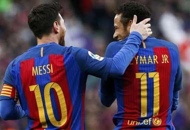 Messi expresó que quiere volver a jugar con Neymar en el Barça. Foto. Internet