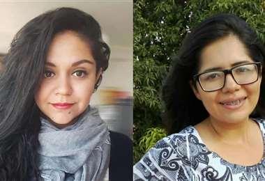 Laura Amador y Carla Aliaga, escritoras galardonadas. Foto: La Hoguera