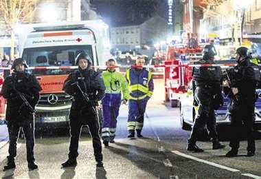 El miércoles, en Hanau nueve personas murieron en dos tiroteos. Foto : AFP