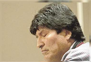 Evo Morales protestó ayer desde Argentina, donde reside desde diciembre del año pasado