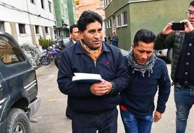 El exministro fue aprehendido este viernes en La Paz. (Foto: APG)