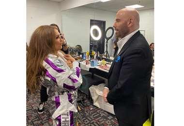 Thalía y John Travolta (Foto: Instagram Tommy Mottola)